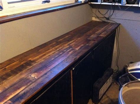 Garage countertop made with pallet wood   For the Home