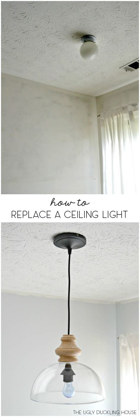 How To Install A Ceiling Light Fixture Without Existing Wiring How To Replace Overhead Light Fixtures With Ease