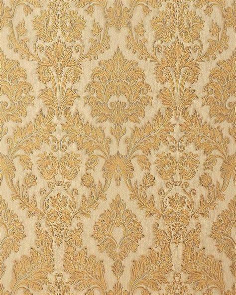gold embossed wallpaper uk edem 708 33 embossed baroque damask wallpaper caramel