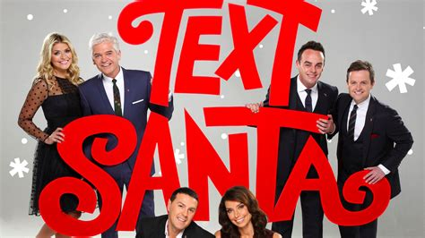 text santa presenters revealed check out the line up line up for this year s text santa news text santa