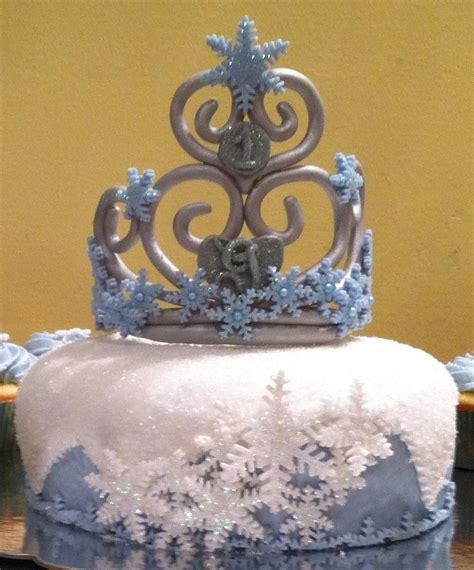 Sho Snow Wash snow princess snowflake cake with a snowflake crown for that snow princess