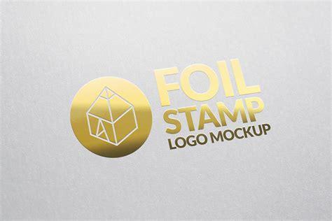 mockup design logo foil st logo mockup on behance