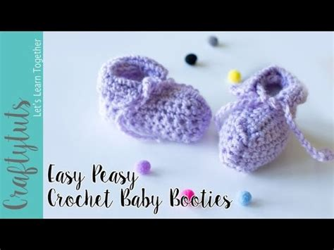 youtube link pattern easy peasy crochet baby booties tutorial with link to
