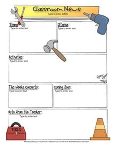 1000 Images About Classroom Newsletter On Pinterest Newsletter Templates Preschool Construction Newsletter Template