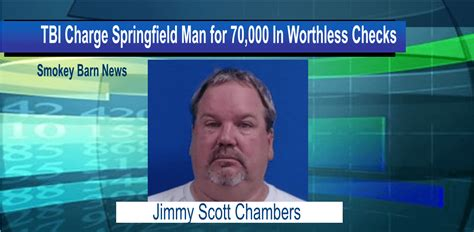 Tbi Background Check Tbi Charge Springfield For 70 000 In Worthless Checks