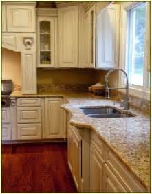 White Kitchen Cabinets With Brown Countertops Brown Granite Countertops Kitchen Home Design Ideas