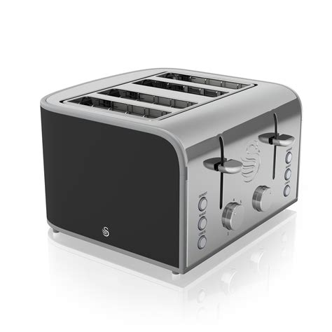 Retro Stainless Steel Toaster Swan Retro 1 8l Stainless Steel Kettle And 4 Slice Toaster
