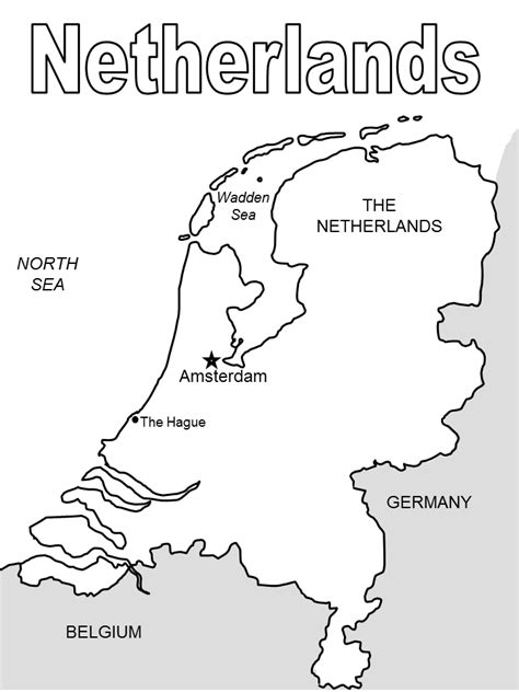 netherlands map outline geography netherlands outline maps