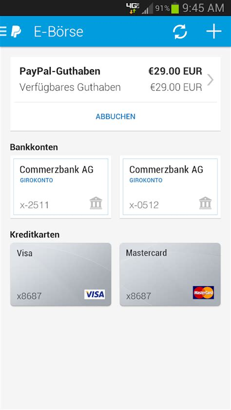 kreditkarte paypal entfernen paypal android apps auf play