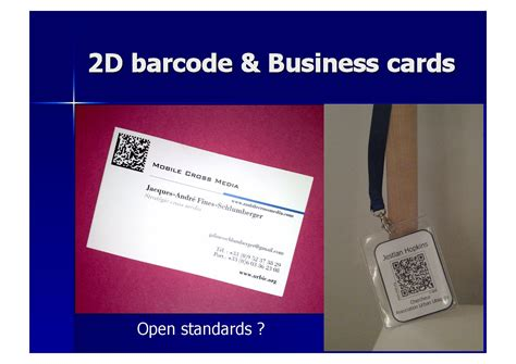 Business Card Barcode