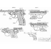 Walther P38 Blueprint  Download Free For 3D