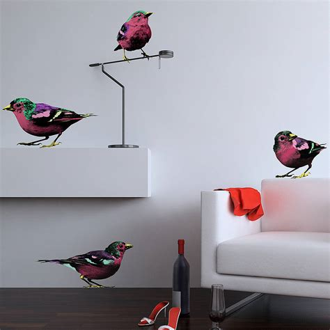 pop wall stickers pop sparrows wall stickers by the binary box