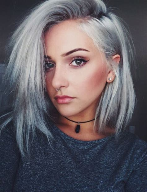 gray shoulder length bob 70 grey hair styles ideas and colors my new hairstyles