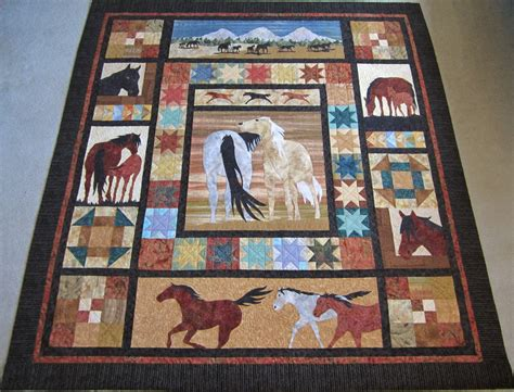 horse pattern quilt kits roberta s custom quilting