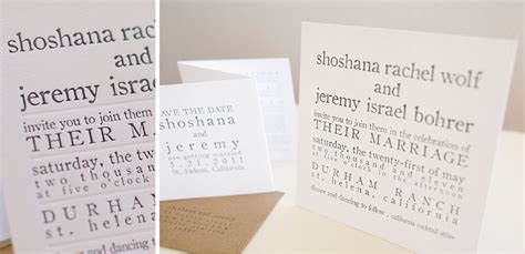 Thick Paper Wedding Invitations by Minimalist Thick Paper Letterpress Wedding Invitation