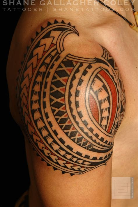 polynesian shoulder tattoo shane tattoos polynesian shoulder