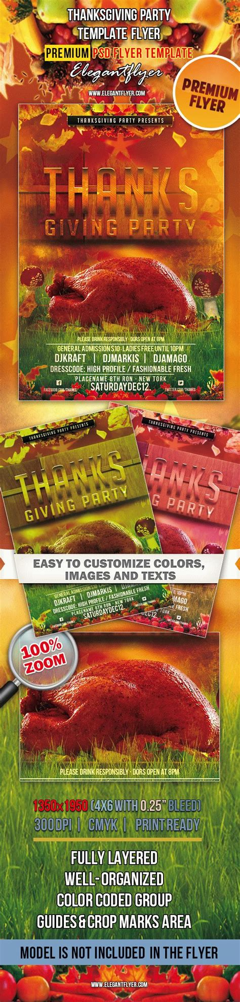 thanksgiving card template psd club flyer thanksgiving by elegantflyer