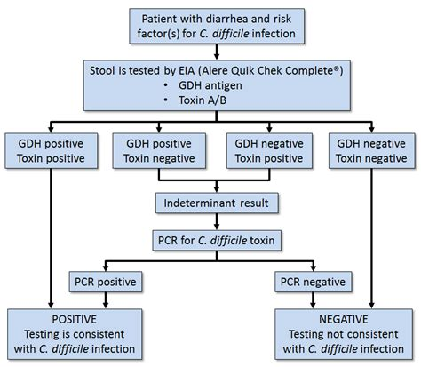 clostridium difficile two step algorithm testing