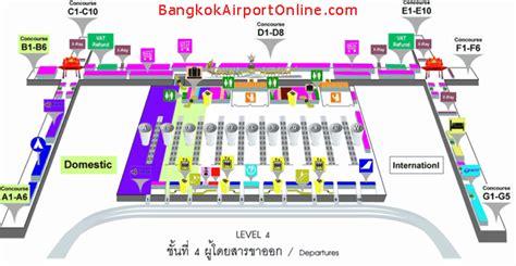 Sydney Airport Floor Plan by Suvarnabhumi Airport Terminal Map Suvarnabhumi Airport