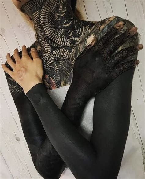 solid black tattoo these striking solid black tattoos will make you want to