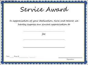 Service Certificate Template by Service Award Certificate Template Sle Templates