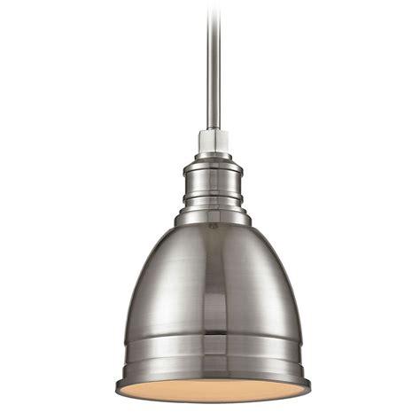 Nickel Mini Pendant Light Elk Lighting Carolton Brushed Nickel Mini Pendant Light With Bowl Dome Shade 66850 1