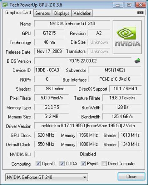 nvidia geforce gt 240: reviews and graphics cards makers