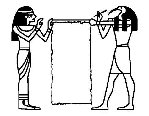 imagenes de figuras egipcias para colorear dibujo de cleopatra y thot para colorear dibujos net