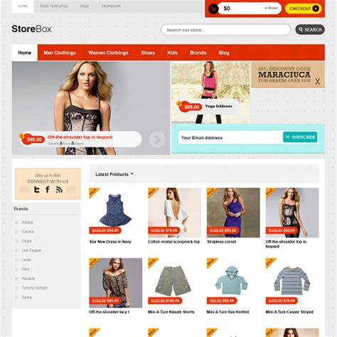 store themes wordpress free store box e commerce wordpress theme