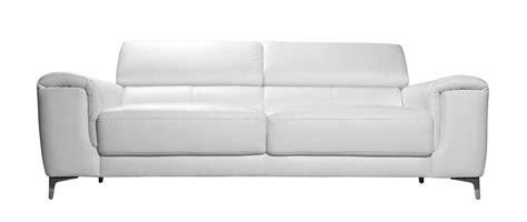 canap 233 cuir design trois places avec t 234 ti 232 res relax blanc