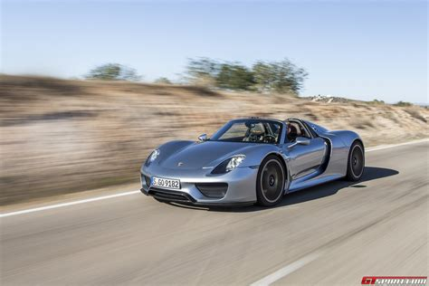 road porsche 918 spyder gtspirit 2014 porsche 918 spyder liquid chrome blue 0023