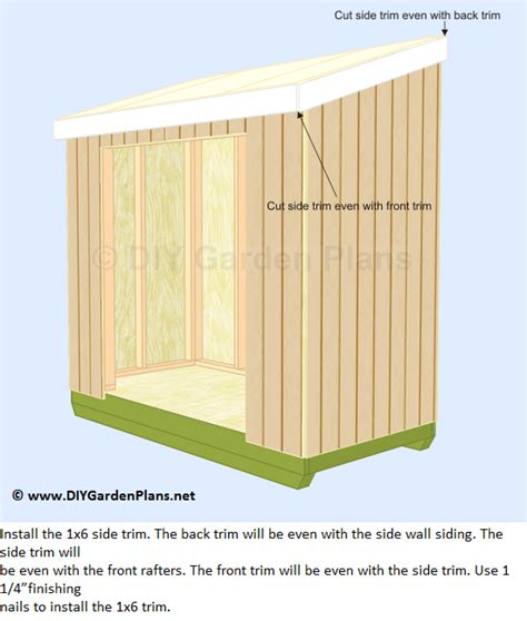 how to cut and install the lean to shed trim and soffit