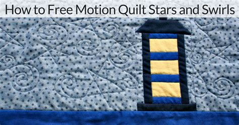 how to free motion quilt and swirls no