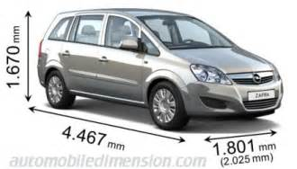 Opel Zafira Dimensions The Gallery For Gt Opel Zafira Interior Dimensions