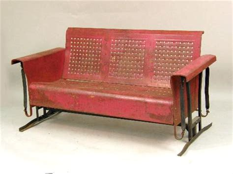 vintage metal porch swing a vintage red painted metal porch swing glider
