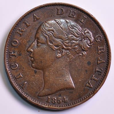 values of british one penny copper coins with queen copper coins 1854 copper penny victoria