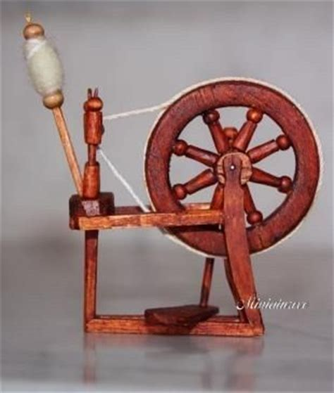 Sale Spinner Model Permata diy miniature spinning wheel in dollhouse sewing