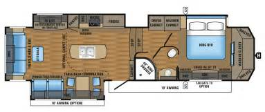 5th wheel floor plans 2017 designer luxury fifth wheel floorplans prices jayco inc