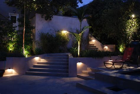 Outdoor Designer Lighting Modern Staircase Lighting Contemporary Landscape Los Angeles By Lenkin Design Inc