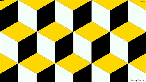 yellow and white l wallpaper 3d cubes yellow white black ffd700 f5fffa