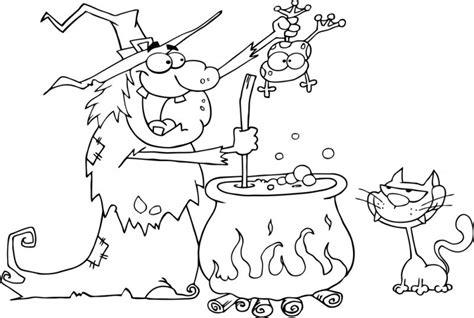 imagenes de halloween sin color dibujos de brujas para colorear pintar e imprimir gratis