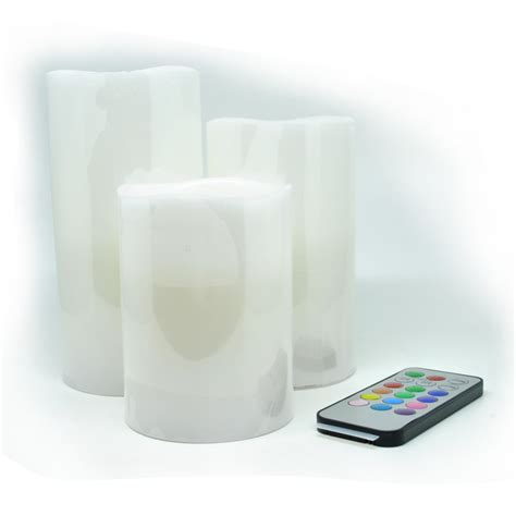 free led candles 3 pcs with remote white