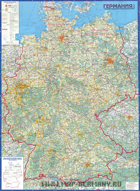 road map of germany germany road map size