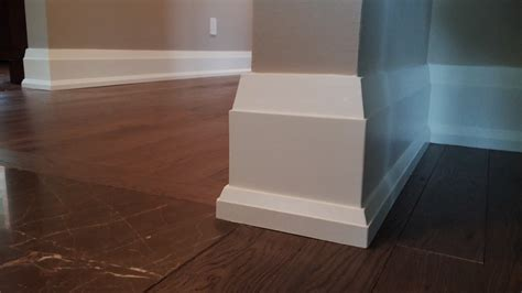 modern molding and trim effigy of modern baseboard gives eclectic outlook for
