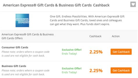 American Express Gift Card Cash Out - ends today get 2 25 cash back on american express gift cards points miles martinis