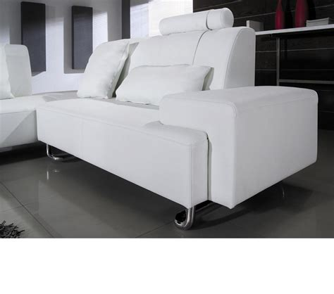 modern white sectional sofa dreamfurniture com madrid modern white leather sectional