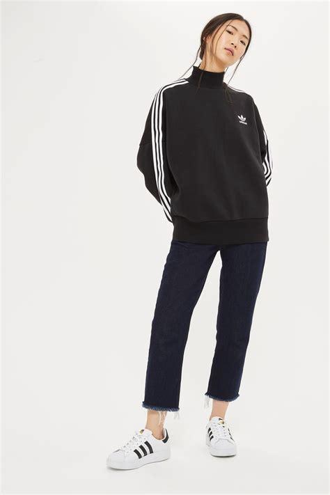 3 stripe high neck jumper by adidas originals topshop
