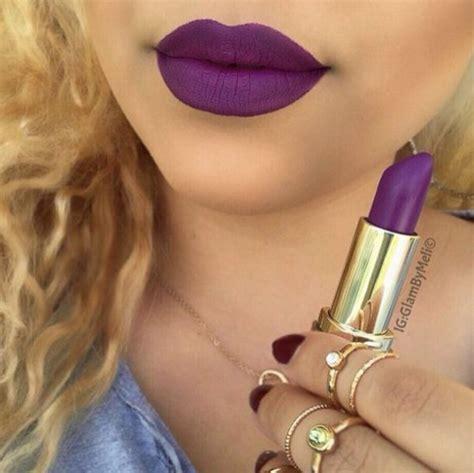 Lipstick Rossa Lasts Matte Lip make up purple lipstick make up purple