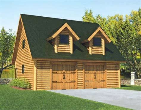Log Home Plans With Garage by Garage Plan Mywoodhome