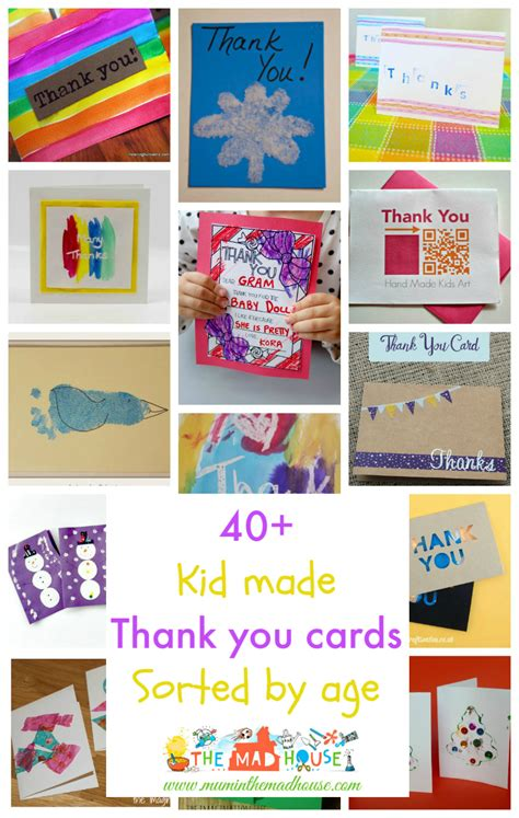 how to make a age card kid made thank you cards sorted by age in the madhouse
